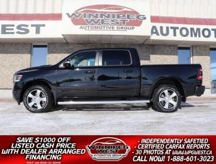Used 2020 RAM 1500 SPORT LEVEL 2 CREW 4X4, WELL EQUIPPED, VERY SHARP! for sale in Headingley, MB
