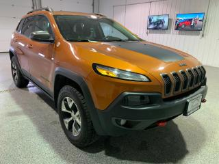 Used 2016 Jeep Cherokee Trailhawk 4WD #Leather #Heated Seats #Navigation for sale in Brandon, MB