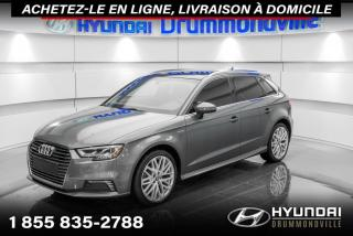 Used 2017 Audi A3 E-TRON TECHNIK + GARANTIE + NAVI + WOW ! for sale in Drummondville, QC