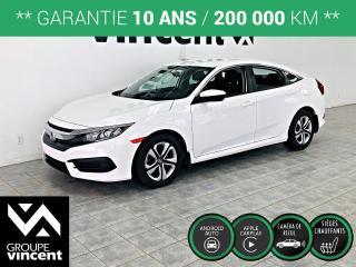 Used 2017 Honda Civic LX ** GARANTIE 10 ANS ** Berline reconnue pour ses qualités de grande routière! for sale in Shawinigan, QC