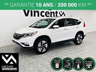 Used 2015 Honda CR-V TOURING AWD CUIR GPS ** GARANTIE 10 ANS ** Luxueux et abordable! for sale in Shawinigan, QC