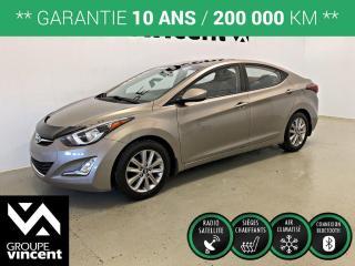Used 2014 Hyundai Elantra GLS TOIT MAGS ** GARANTIE 10 ANS ** Berline à bas kilométrage! for sale in Shawinigan, QC