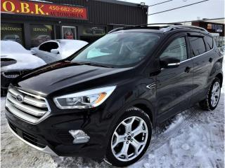 Used 2017 Ford Escape Titanium-4WD-TOIT PANO-NAVI-CAM RECUL-BLLEUTOOTH- for sale in Laval, QC