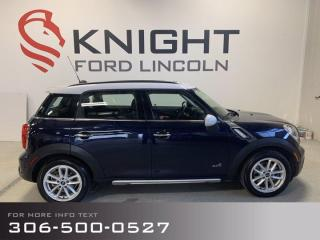 Used 2015 MINI Cooper Countryman S, Leather, Sunroof, AWD! for sale in Moose Jaw, SK