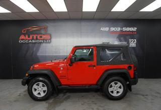 Used 2016 Jeep Wrangler SPORT 4X4 AUTOMATIQUE + JAMAIS ACCIDENTÉ 73 720 KM for sale in Lévis, QC