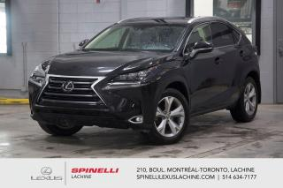 Used 2017 Lexus NX 200t EXECUTIF AWD; CUIR TOIT GPS HEADS UP MAGS NOIR NAVIGATION - AFFICHAGE TÊTE HAUTE - CHARGE SANS FIL - VOLANT CHAUFFANT - MAGS 18'' NOIR for sale in Lachine, QC
