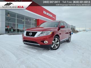 Used 2014 Nissan Pathfinder Platinum 7 PASSENGER, HEATED/COOLED SEATS, BACKUP CAMERA, NAV for sale in Calgary, AB