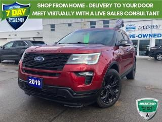 Used 2019 Ford Explorer Sport 7 passenger leather pano roof navi awd for sale in Hamilton, ON