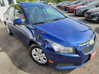 Used 2012 Chevrolet Cruze LT Turbo/6SP/LOADED/SUNROOF/CLEAN for sale in Scarborough, ON