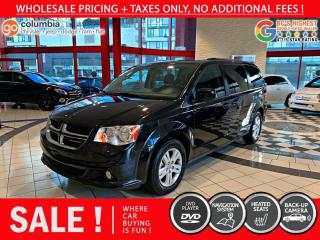 Used 2020 Dodge Grand Caravan Crew Plus - Accident Free / DvD / Nav / Local for sale in Richmond, BC