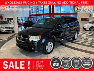 Used 2020 Dodge Grand Caravan Crew Plus - Leather / DVD / No Accident / Local for sale in Richmond, BC