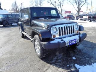 Used 2012 Jeep Wrangler UNL Sahara No Accidents for sale in Windsor, ON