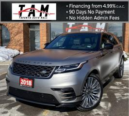 Used 2018 Land Rover Range Rover Velar R-Dynamic HSE P380 First Edition NAVI MASSAGE SEATS 360CAM HEADS-UP Display CLEAN CARFAX for sale in North York, ON