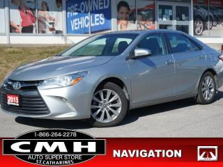Used 2015 Toyota Camry XLE  NAV CAM BS ROOF LEATH HTD-SEATS 17-AL for sale in St. Catharines, ON