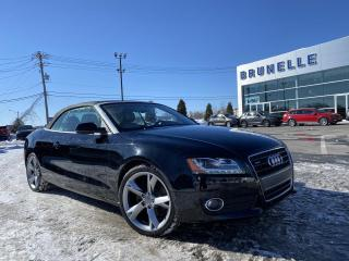 Used 2012 Audi A5 CONVERTIBLE for sale in St-Eustache, QC