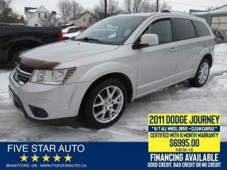 Used 2011 Dodge Journey R/T AWD *Clean Carfax* Certified + 6 Mth Warranty for sale in Brantford, ON