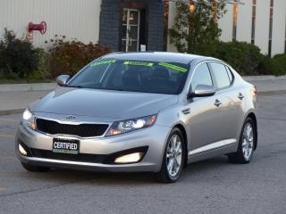 Used 2013 Kia Optima LEATHER,BACKUP CAMERA,LOADED,NO-ACCIDENT,CERTIFIED for sale in Mississauga, ON