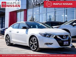 Used 2016 Nissan Maxima SL Bluetooth Blind Spot Navi Moonroof Remote Start for sale in Maple, ON