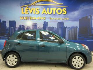 Used 2016 Nissan Micra S 5 VITESSE MANUEL SEULEMENT 82900 KM ! for sale in Lévis, QC