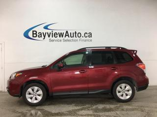 Used 2018 Subaru Forester 2.5i Convenience - AWD! SUBARU STARLINK! REVERSE CAM! FULL PWR GROUP! for sale in Belleville, ON