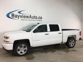 Used 2018 Chevrolet Silverado 1500 Silverado Custom - 4X4! V8! HITCH! REVERSE CAM! FULL PWR GROUP! for sale in Belleville, ON