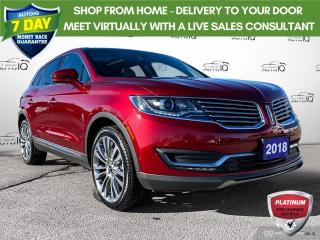 Used 2018 Lincoln MKX Reserve AWD/Leather/Navi/Roof/21 Wheels for sale in St Thomas, ON