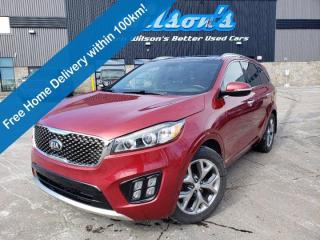 Used 2016 Kia Sorento 2.0L SX Turbo AWD, Leather, Navigation, Sunroof, Heated Wheel + Seats, Bluetooth, Rear Camera, Alloy for sale in Guelph, ON