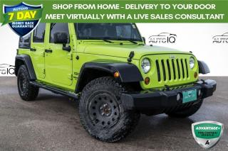Used 2013 Jeep Wrangler Unlimited Sport GECKO PEARLCOAT COLOUR! 6 SPEED MANUAL! for sale in Barrie, ON