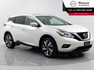 Used 2017 Nissan Murano Platinum Accidents Free, Remote Start, Moonroof, Nav., 360 Camera's for sale in Winnipeg, MB