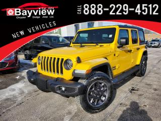 New 2021 Jeep Wrangler Unlimited Sahara 80th Anniversary Edition for sale in Sarnia, ON