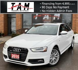 Used 2015 Audi A4 2.0T S-Line Sunroof Parking Distance Control Front & Rear Heated Seats Clean Carfax No Accident for sale in North York, ON