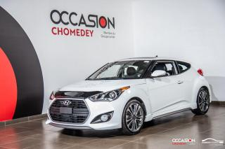 Used 2016 Hyundai Veloster TURBO+TOIT PANO+VOLANT/SIEGES CHAUFFANTS+NAVI+CUIR for sale in Laval, QC