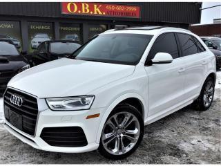 Used 2018 Audi Q3 PROGRESSIV-PREMIUM PLUS-NAVI-TOIT PANO-CAM RECUL for sale in Laval, QC