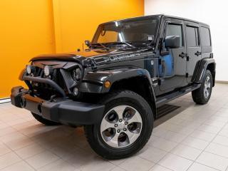 Used 2018 Jeep Wrangler SAHARA 4X4 BLUETOOTH NAVIGATION *BAS KILOMÉTRAGE* for sale in Mirabel, QC