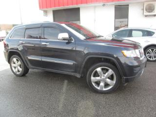 Used 2012 Jeep Grand Cherokee Overland $13,995+HST+LIC FEE / CERTIFIED / PANORAMIC ROOF / WOOD WHEEL for sale in North York, ON