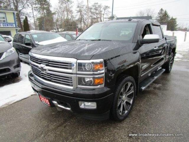 2015 Chevrolet Silverado 1500 LIKE NEW HIGH-COUNTRY MODEL 5 PASSENGER 6.2L - V8.. 4X4.. CREW-CAB.. SHORTY.. NAVIGATION.. LEATHER.. HEATED/AC SEATS.. POWER PEDALS & MIRRORS..