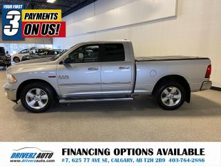 Used 2015 RAM 1500 SLT NAV, SUNROOF, SPRAY IN LINER, TONNEAU COVER AND MORE for sale in Calgary, AB