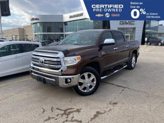 Used 2016 Toyota Tundra Platinum 1794 Edition 4x4 Crew Cab | Cooled Seats for sale in Winnipeg, MB