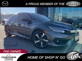 Used 2016 Honda Civic Touring Comes with Winter Tires and Rims for sale in Chatham, ON