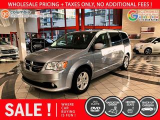 Used 2020 Dodge Grand Caravan Crew Plus - Leather / DVD / Nav / No Accident / Local for sale in Richmond, BC