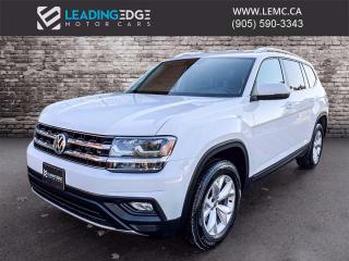 Used 2019 Volkswagen Atlas 3.6 FSI Comfortline Leather, Heated Steering, Adaptive Cruise for sale in King, ON