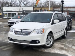 Used 2013 Dodge Grand Caravan Crew HEATED FRONT SEATS, HEATED STEERING WHELL, POWER SIDE DOORS, BACKUP CAMERA & MORE for sale in Saskatoon, SK