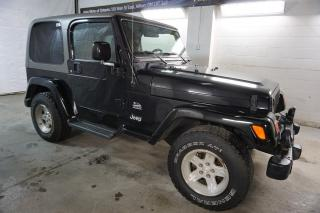 Used 2004 Jeep Wrangler TJ SAHARA CERTIFIED 2YR WARRANTY *FREE ACCIDENT* CRUISE ALLOYS SOFT/HARD TOP for sale in Milton, ON