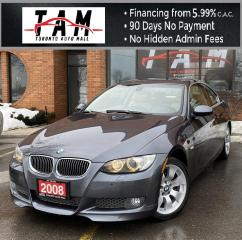 Used 2008 BMW 3 Series 335xi Coupe NAVI Sunroof Leather Heated Seats AWD for sale in North York, ON