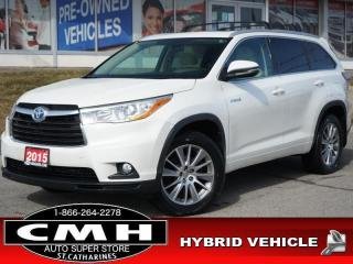 Used 2015 Toyota Highlander HYBRID XLE  NAV CAM ROOF LEATH P/GATE 19-AL for sale in St. Catharines, ON