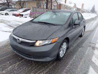 Used 2012 Honda Civic LX Sedan 5-Speed AT for sale in Ottawa, ON