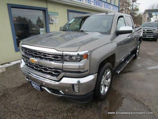 2017 Chevrolet Silverado 1500 LOADED LTZ MODEL 5 PASSENGER 6.2L - V8.. 4X4.. CREW-CAB.. SHORTY.. TRAILER BRAKE.. NAVIGATION.. LEATHER.. HEATED/AC SEATS.. POWER MIRRORS & PEDALS..