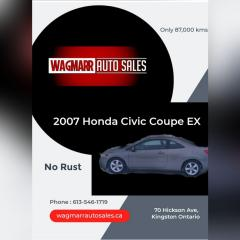 Used 2007 Honda Civic EX for sale in Kingston, ON