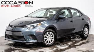 Used 2016 Toyota Corolla LE SIEGES.CHAUFFANTS+BLUETOOTH+CAM.RECUL for sale in Boisbriand, QC