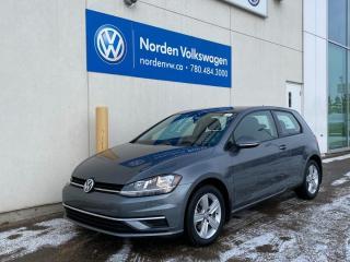 Used 2018 Volkswagen Golf TRENDLINE 5SPD M/T - VW CERTIFIED - SUPER LOW KMS! for sale in Edmonton, AB